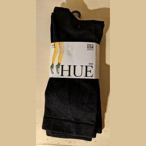 Three Pairs Black Nylon Spandex Ankle Socks HUE